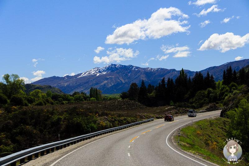 Fahrt Richtung Queenstown, Neuseeland