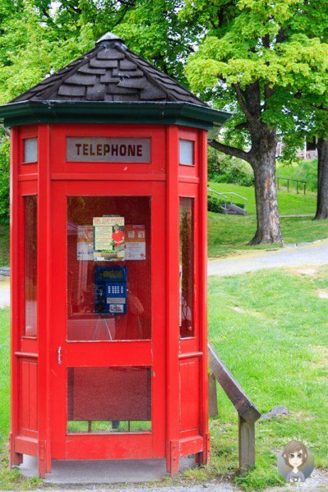 Telefonzelle in Arrowton