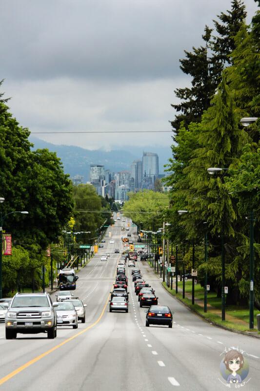 Fahrt durch Vancouver