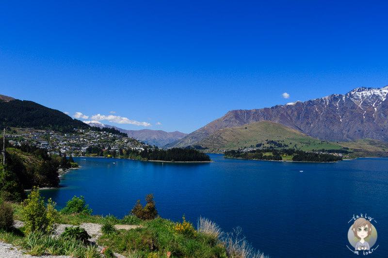erster Aussichtspunkt am Lake Wakatipu