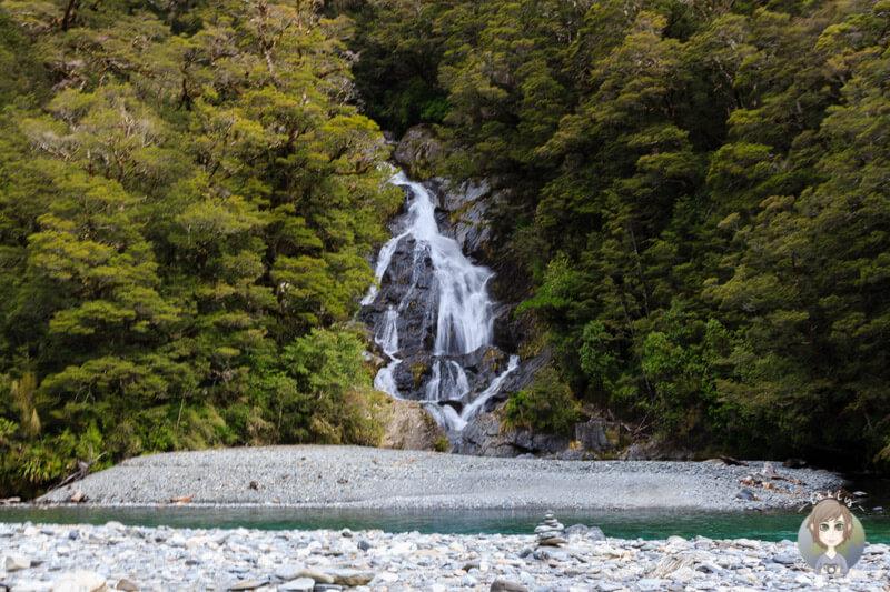 Thunder Creek Falls, Haast Pass Neuseeland