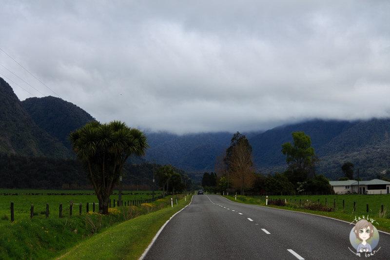Fahrt Richtung Franz Josef, West Coast Neuseeland
