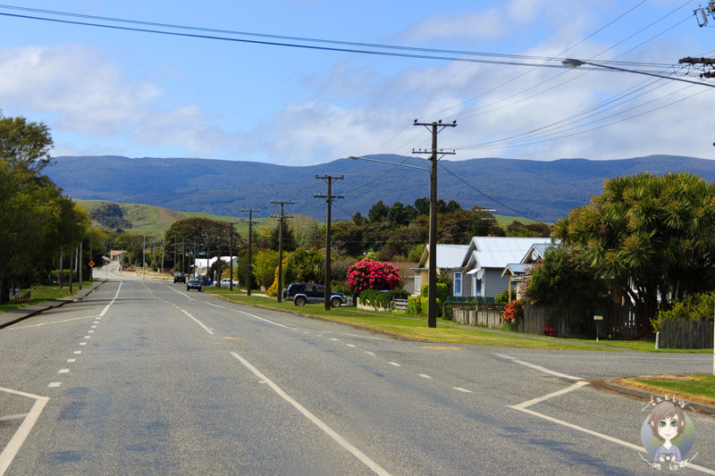 kleine Stadt in Southland, Neuseeland