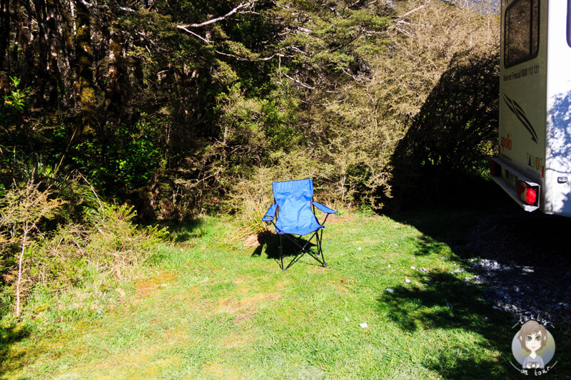 Campingstuhl in Neuseeland