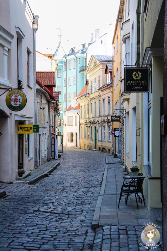 Die Gassen in der Altstadt von Tallinn, Estland