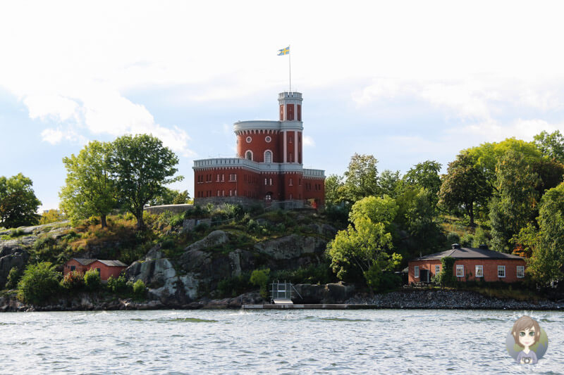 Das Kastellet auf einer Insel vor Stockholm