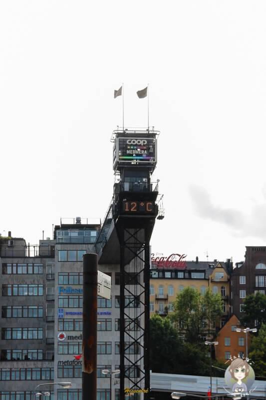 Aufzug Katarinahissen in Stockholm