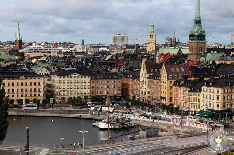 Blick auf Stockholm vom Aufzug Katarinahissen