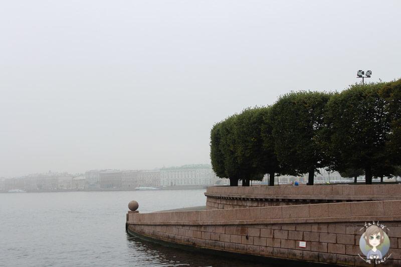 Aussicht auf den Fluss Neva in St. Petersburg