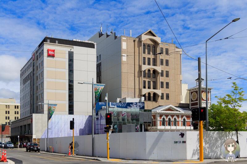 Baustellen in Christchurch