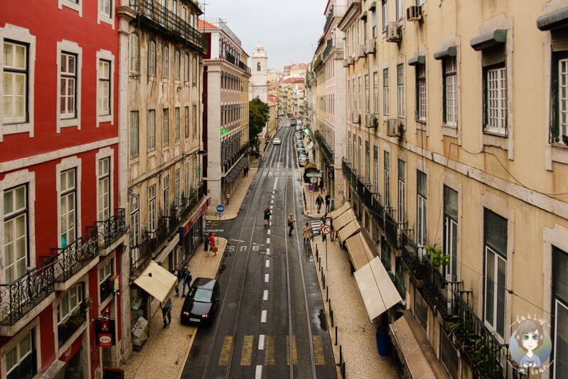 Blick auf die Straßen von Lissabon