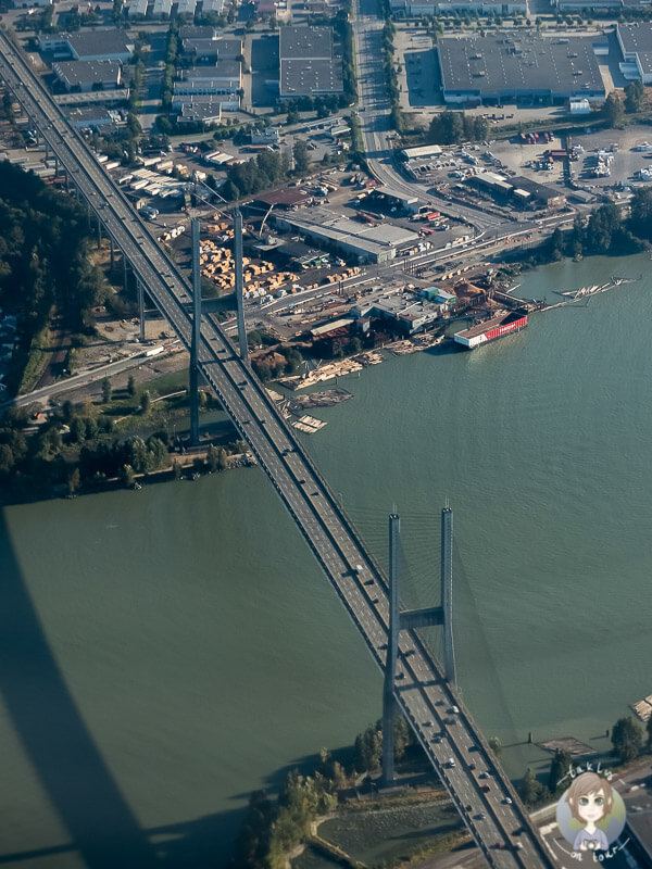 Brücke von Vancouver von oben