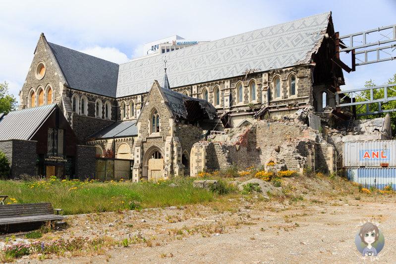 die zerstörte Kathedrale in Christchurch 2015