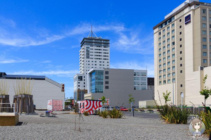 noch heute gibt es viele freie Flächen in Christchurch nach dem Erdbeben in Christchurch