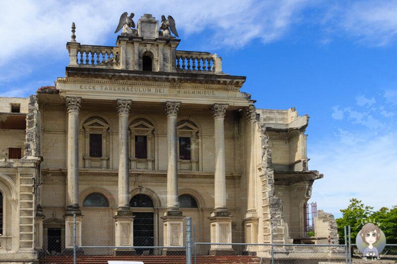 Ein wunderschönes Gebäude - leider als Ruine in Christchurch