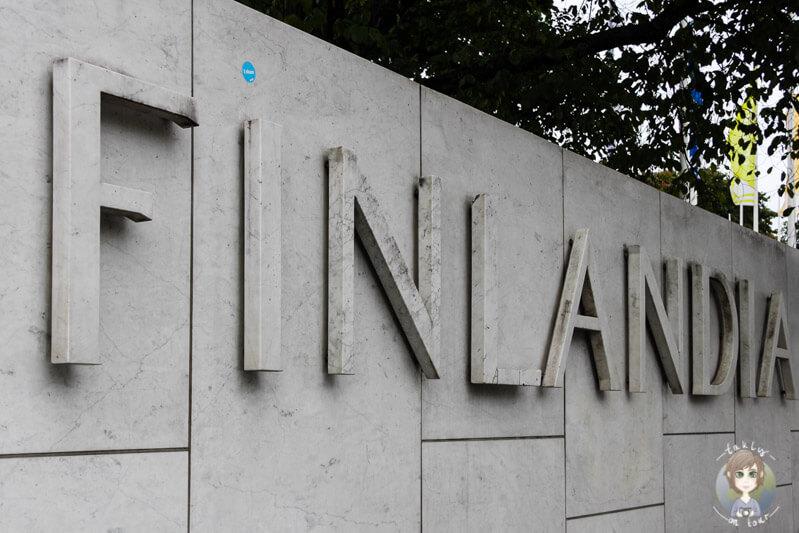 Das Schild der Finlandia Halle
