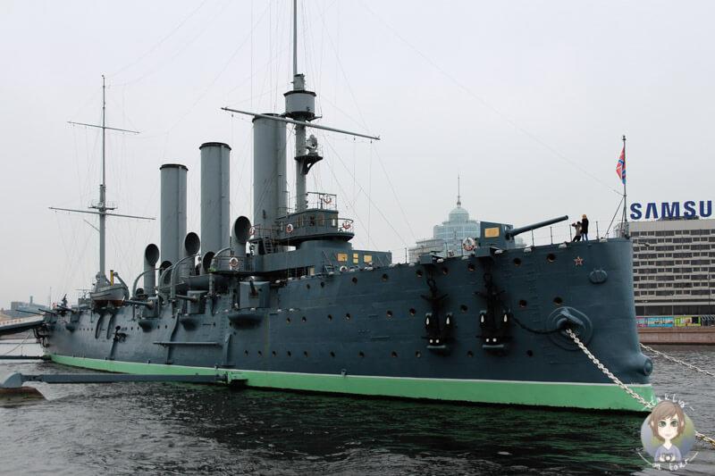 Der Panzerkreuzer Aurora in St. Petersburg