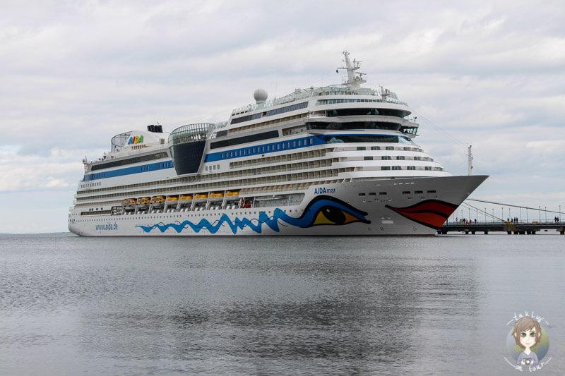 Die AIDA mar im Hafen von Tallinn, Estland