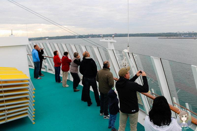 Die AIDA trifft in Tallinn ein, Blick auf die Stadt
