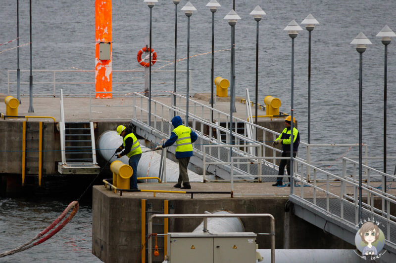 Die AIDA wird im Hafen von Tallinn festgemacht
