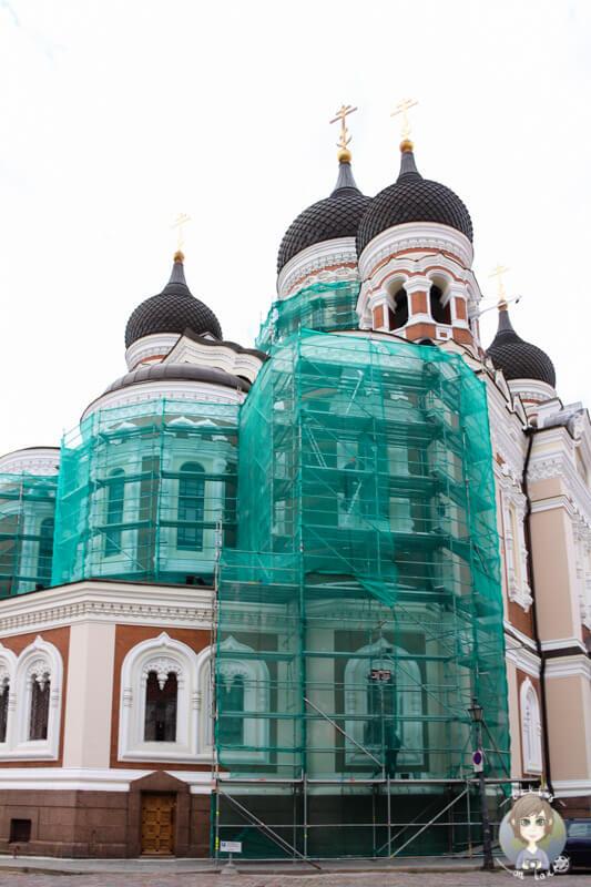 Die  Alexander-Newsky-Kathedrale auf dem Domberg in Tallinn
