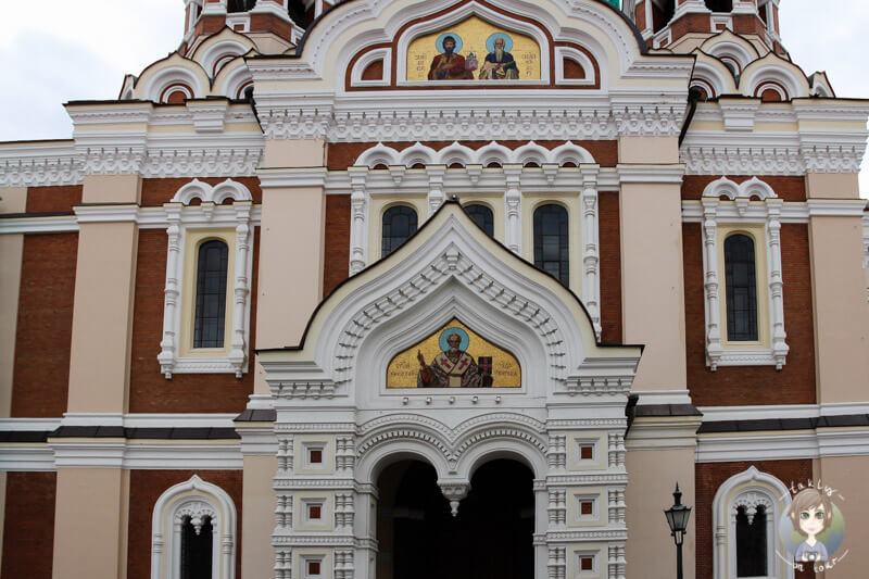 Eingangstür der Die Alexander-Newsky-Kathedrale in Tallinn