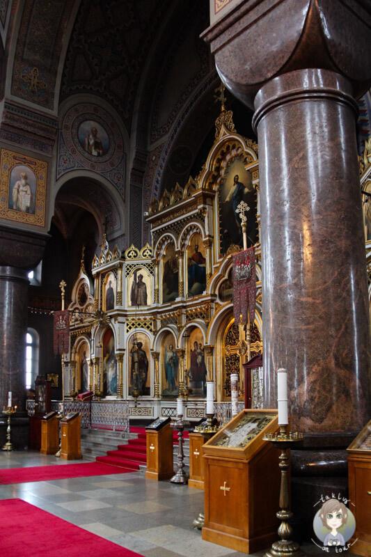 Die Uspenski-Kathedrale in Helsinki von innen