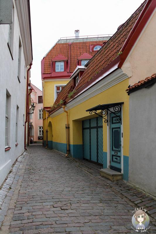 Die schönen Gassen auf dem Domberg in Tallinn