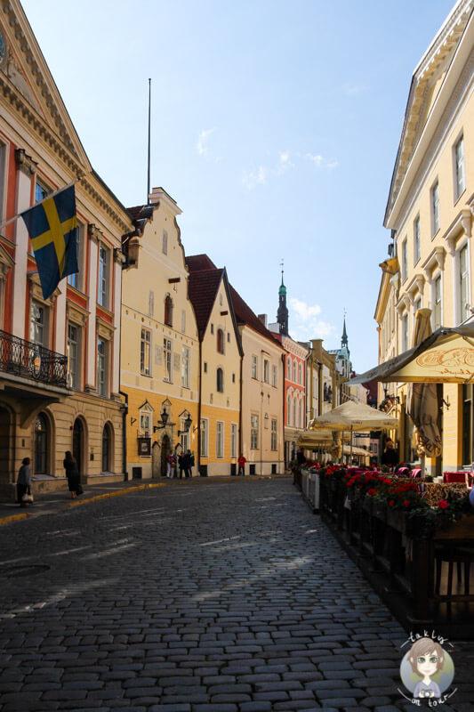 Die schönen Gassen in der Altstadt von Tallinn