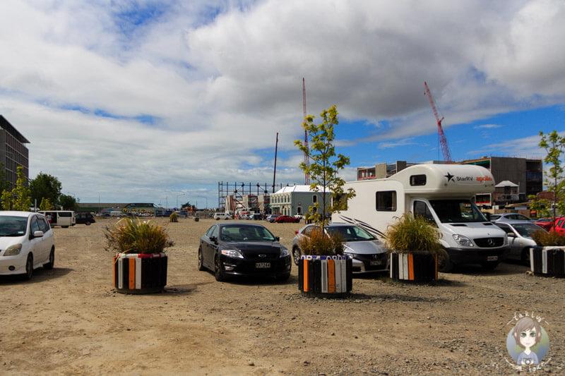Einer von zahlreichen Schotterparkplätzen in Christchurch