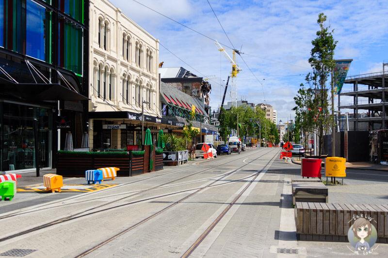 Fahrt durch Christchurch (1)