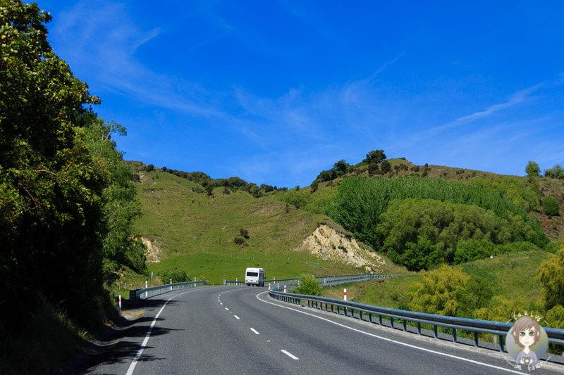 Fahrt nach Christchurch über den SH1 (2)