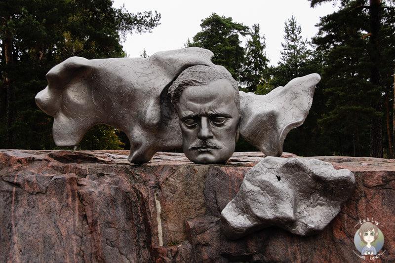Der Kopf von Jean Sibelius im Sibelius Park in Helsinki