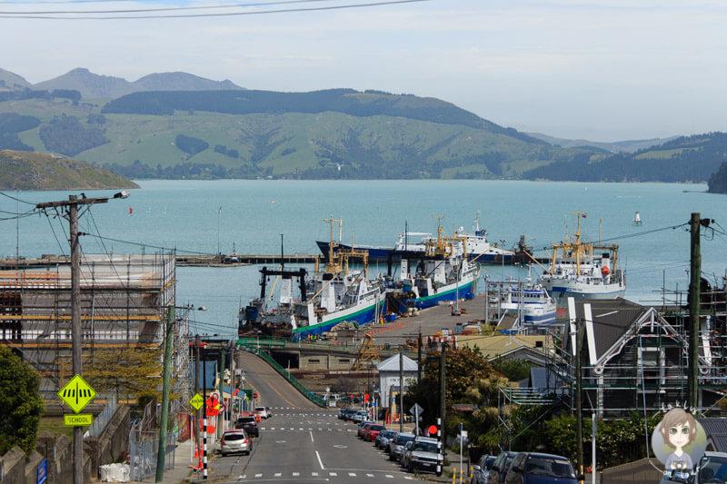 die kleine Hafenstadt Lyttelton, nahe Christchurch