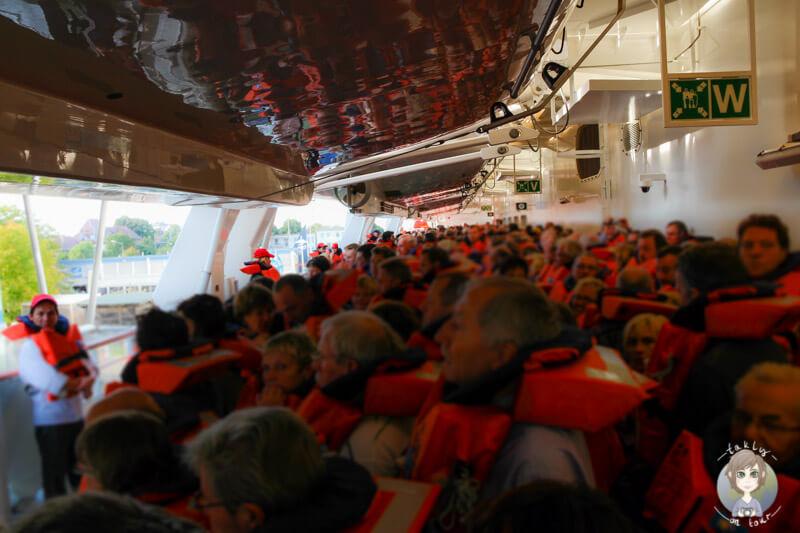 Seenotrettungsübung auf der AIDA