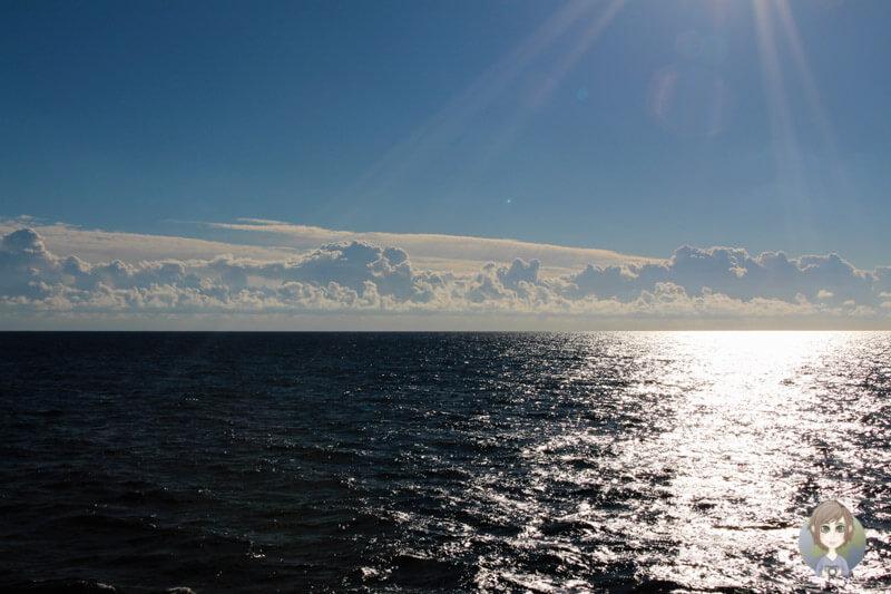 Das Wetter auf dem Seetag der AIDA Ostsee Tour