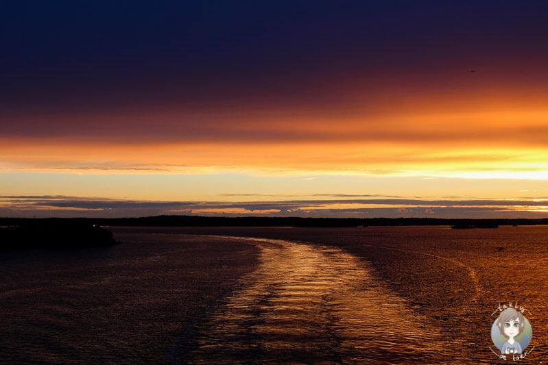 Sonnenuntergang auf der AIDA