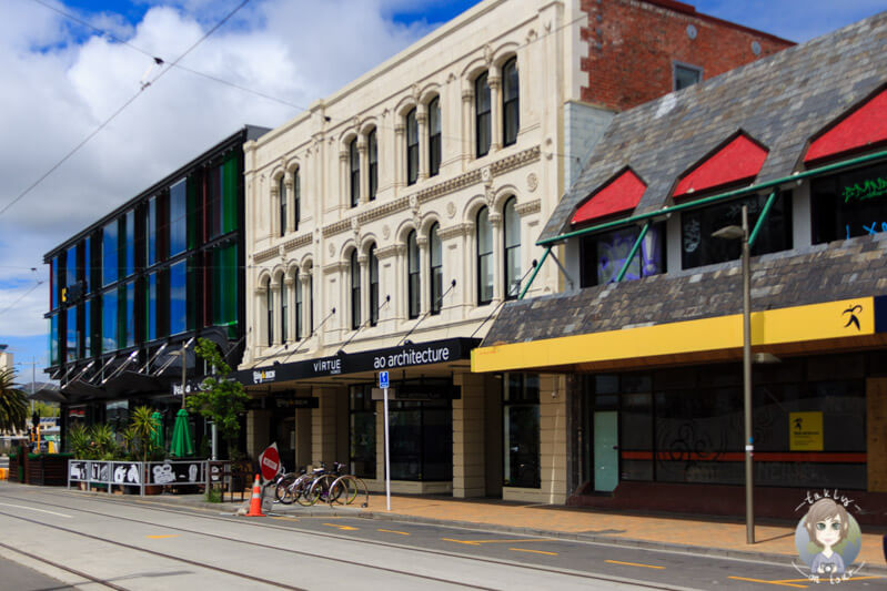 Spaziergang über die High Street in Christchurch