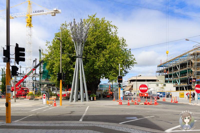 ein netter Platz, aber mit Baustelle in Christchurch
