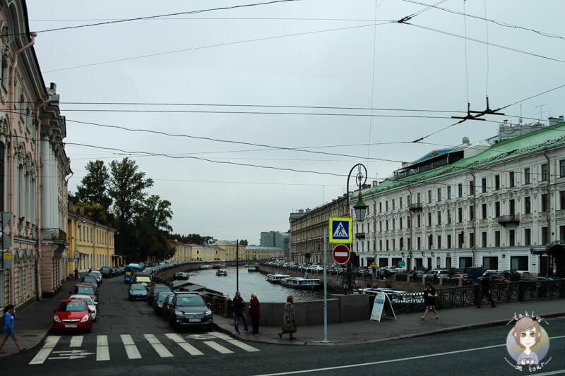 In der Nähe der Isaak-Kathedrale in St. Petersburg
