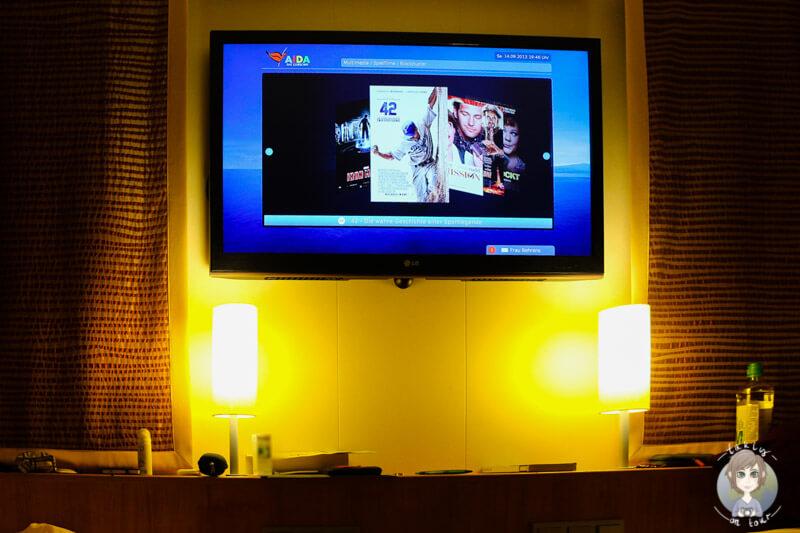 Kabine und TV auf der AIDAmar