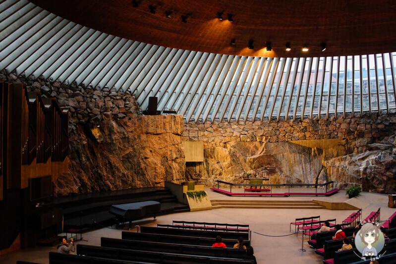 Temppeliaukio-Kirche, Helsinki, Finnland