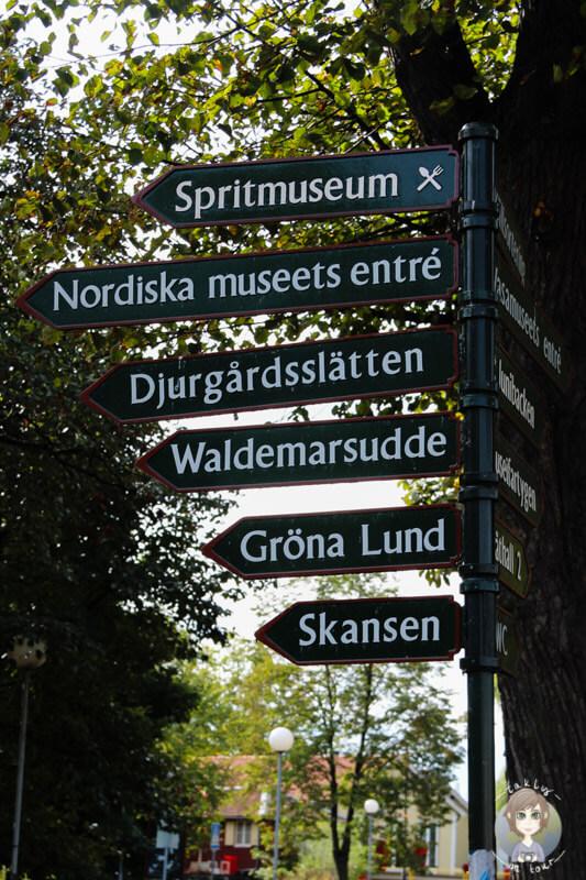 Wegweiser in Stockholm