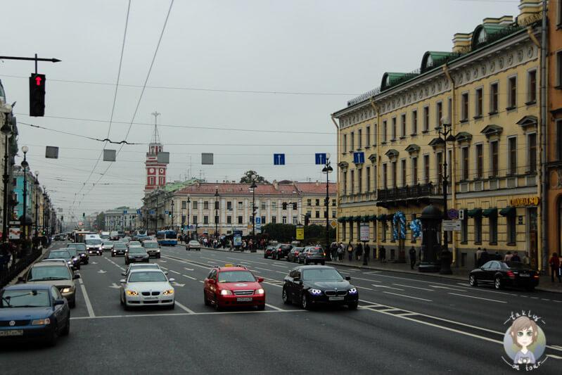 Straße in St. Petersburg