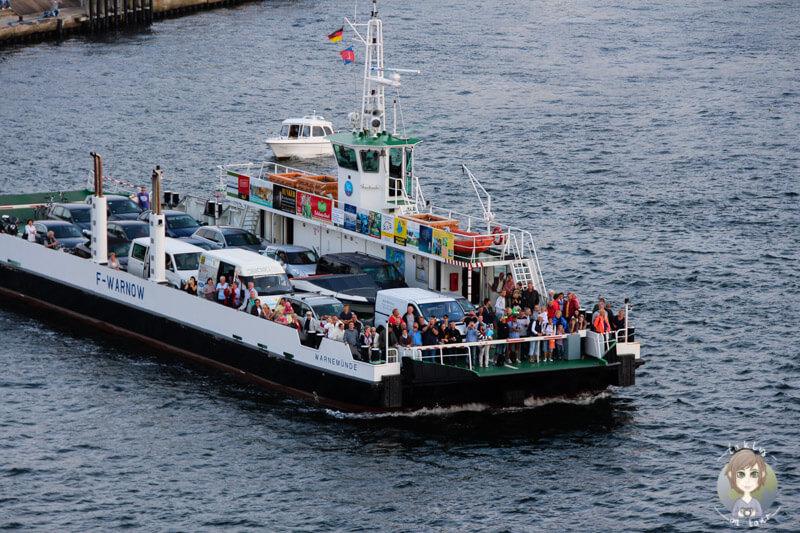 Zuschauer beim Ablegen des Kreuzfahrtschiffs AIDA mar in Warnemünde (2)