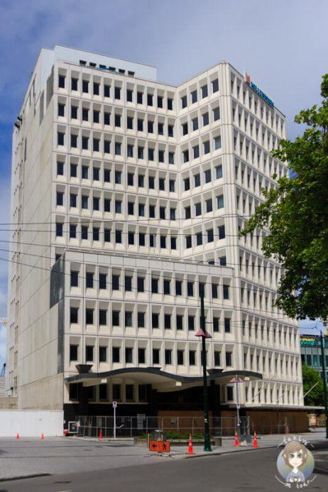 abgesperrtes Hochhaus in Christchurch