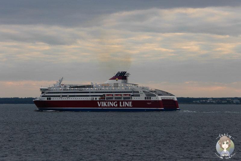 die Viking Line verlässt Tallinn