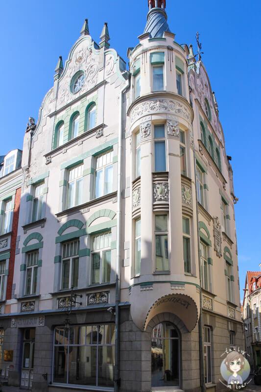 ein schönes Haus im historischen Tallinn