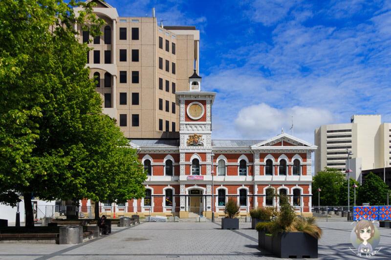 auf dem Cathedral Square in Christchurch