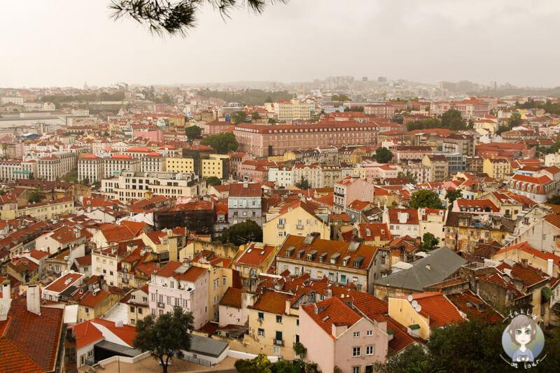 Blick auf Lissabon vom vom Miradouro da Graça